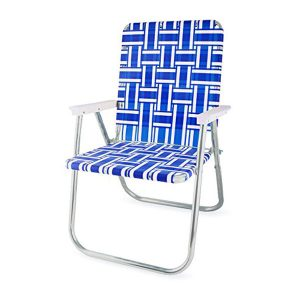 Blue and White Deluxe Chair