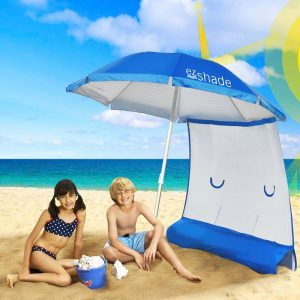 ezShade Lightweight Beach Umbrella with Sunshield Blocks