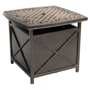 Hanover Traditions Cast-Top Side Table with Umbrella Hole