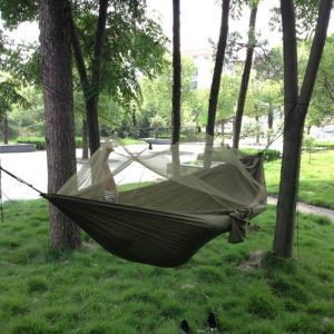 High Strength Fabric Hammock with Mosquito Net by Enjoydeal