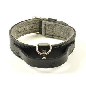 RedLine K9 Heavy Duty Leather Handle Dog Collar