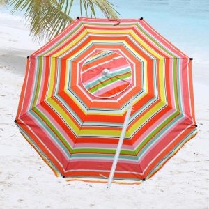 Shadezilla 8 Foot Fiberglass Heavy-Duty Beach Umbrella
