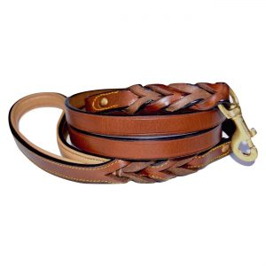 Soft Touch Collars Braided Leather Dog Leash