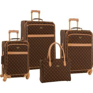 Travel Gear 4 Piece Signature Designer Luggage Set