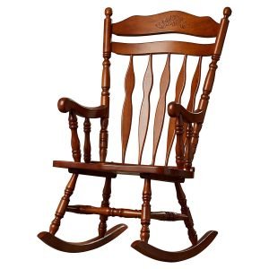 Wildon Home Grande Ronde Solid Walnut Rocking Chair