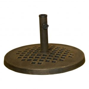 DC America 24 Inch Cast Stone Umbrella Base