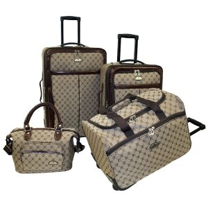 American Flyer 4 Piece Signature Luggage Set For Women