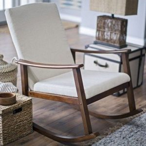 Belham Living Modern Upholstered Rocking Chair