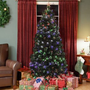 Best Choice Products Multi Lights Fiber Optic Artificial Tree