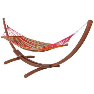Best Choice Products Wooden Curved Arc Hammock Stand