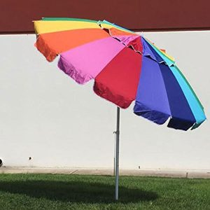 EasyGoUmbrella 8-Feet Heavy Duty Rainbow Beach Umbrella