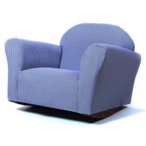 Fantasy Furniture Roundy Rocking Chair in Blue