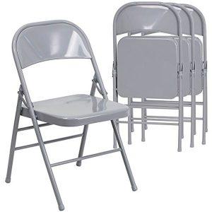 Flash Furniture Metal Folding Chairs, 4-Pack
