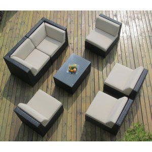Genuine Ohana Outdoor Patio Sofa Set – 7 Pieces