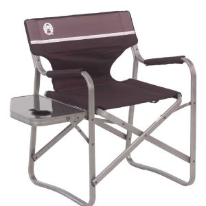 Coleman Heavy Duty Portable Deck Chair with Table