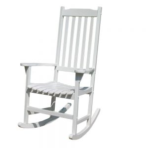 Merry Garden White Paint Traditional Rocker