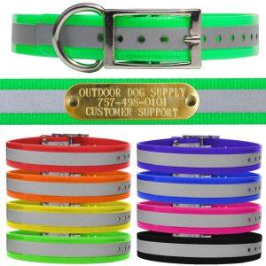 Outdoor Dog Supply Reflective D Ring Dog Collar Strap