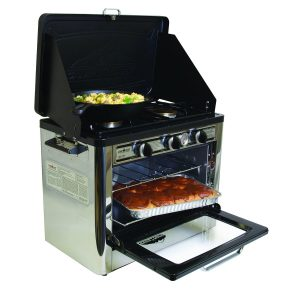 Camp Chef Outdoor Oven With Two-Burner Camping Stove