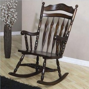 Rocking Chair with Carved Detail by Coaster Home Furnishings