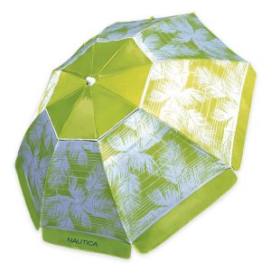 Seven Feet Beach Umbrella Palm Leaf Lime by Nautica