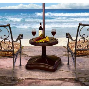 Shademobile Umbrella Stand and Accessory Table