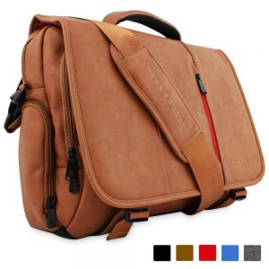 Snugg PU Leather Laptop Shoulder Bag For Men