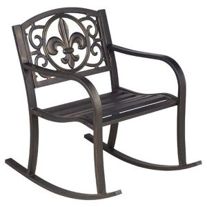Steel Powder Coated Outdoor Rocking Chair by Mosaic