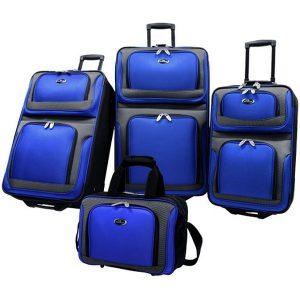 US Traveler 4 Piece New Yorker Luggage Set
