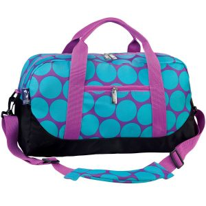 Wildkin Aqua Big Dots Duffel Bag For Kids