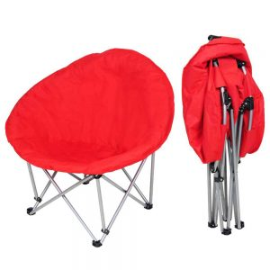 Yescom Light Weight Oversized Large Red or Black Folding Moon Chair