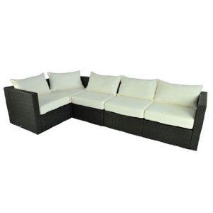 Outsunny 5 Piece PE Rattan Wicker Patio Sofa