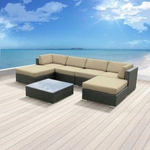 Luxxella 7 Piece Outdoor Wicker Furniture Set