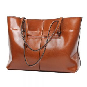 Covelin Leather Laptop Bag For Women