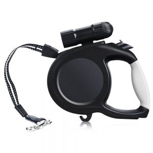 iMallcoo Retractable Dog Training Leash with Flashlight