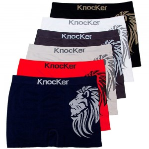 Knocker Seamless Athletic Compression Boxer Briefs For Men