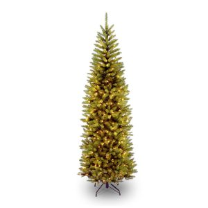 National Tree Kingswood Fir Pencil Hinged Tree With Lights