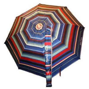 Nautica Beach Umbrella UPF 50+ Multi Color