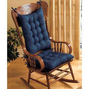 Padded Cushions Rocking Chair Cushion Set