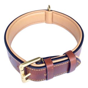 Soft Touch Luxury Real Leather Padded Dog Collar