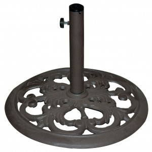 TropiShade 30 Pound Bronze Powder-Coated Umbrella Stand