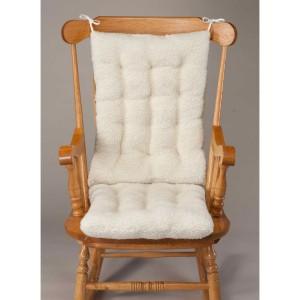 Walter Drake Sherpa Rocking Chair Cushion Set