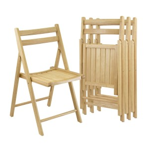 Winsome Wood Folding Chairs, 4-Pack